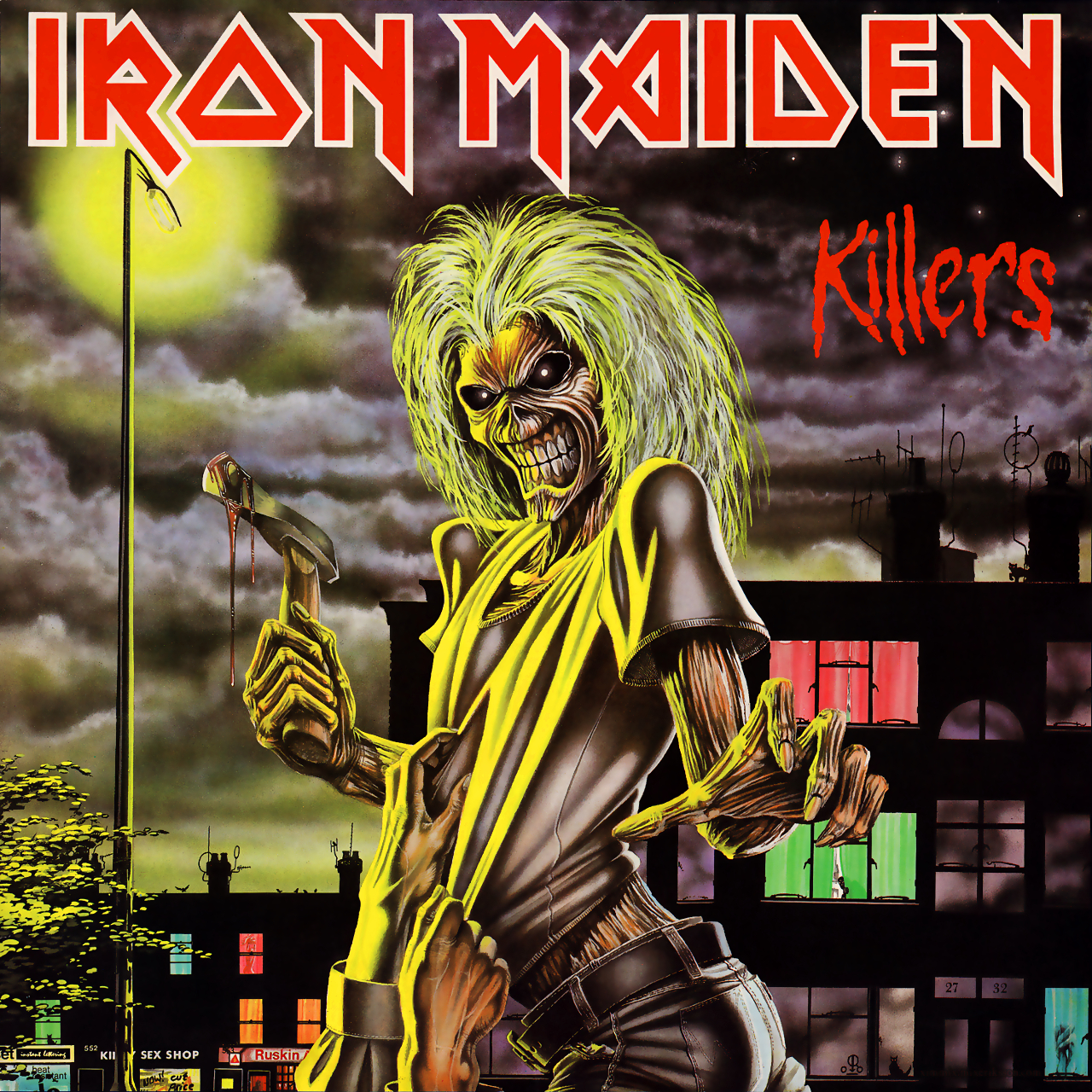 """Killers"" (1981), de Iron Maiden. Fuente: www.ironmaidenwallpaper.com"