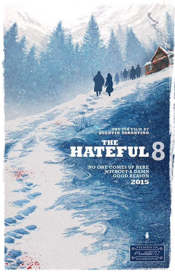 Póster alternativo de 'The Hateful Eight'. Fuente: www.pinterest.com