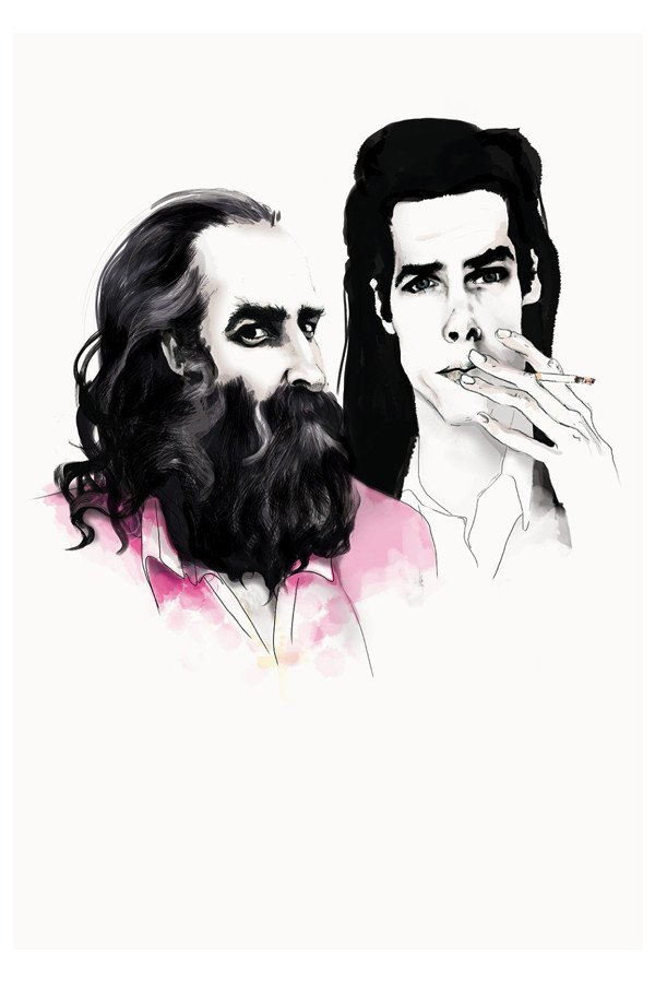 Nick Cave y su mano derecha en The Bad Seeds, Warren Ellis. Fuente: www.violentgreen.com.au