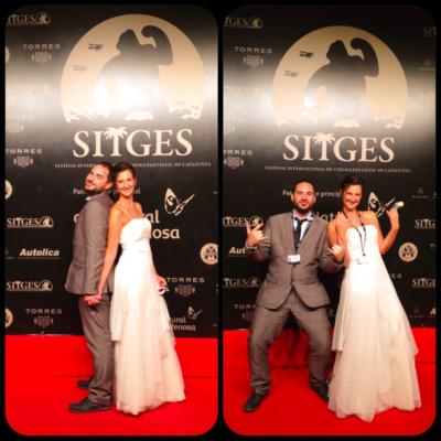 Nando y Marta. Voluntarios Festival de Sitges