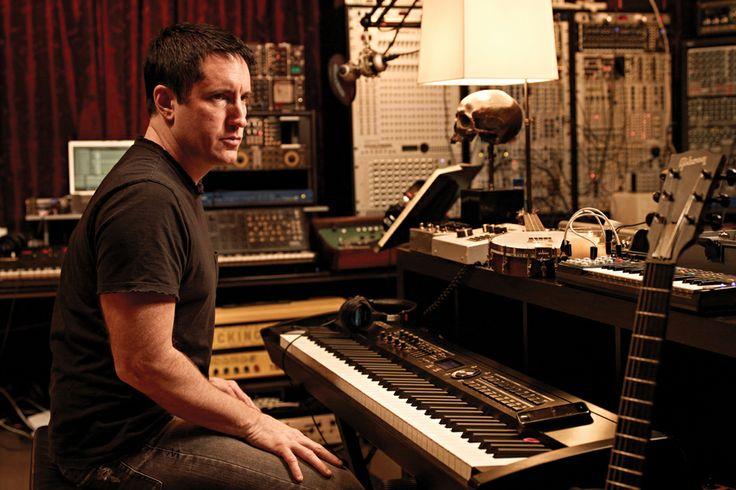 Trent Reznor en el estudio. Fuente: www.pinterest.com