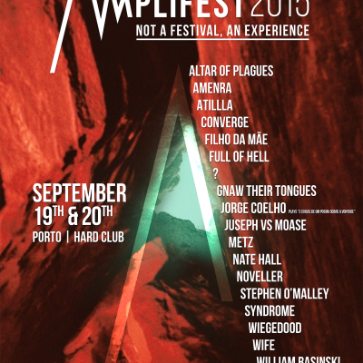 Poster del Amplifest 2015. Artwork de Micaela Amaral.