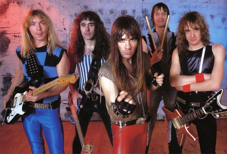 Line up clásico de Iron Maiden.
