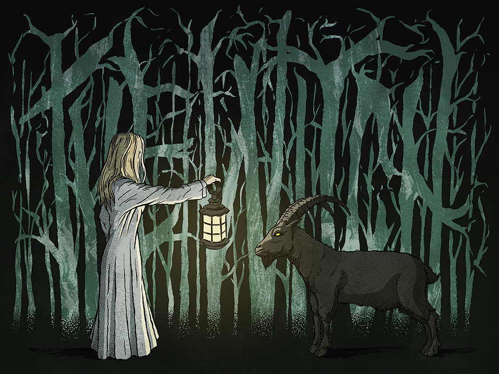 Ilustración exclusiva de Andreu Zaragoza inspirada en 'La bruja' (The Witch).
