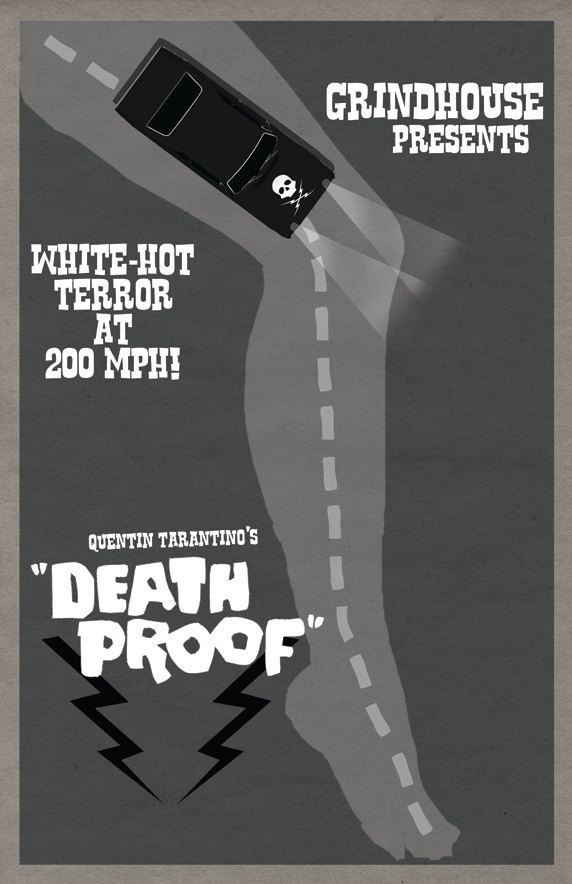 Póster alternativo de 'Death Proof'. Fuente: www.pinterest.com