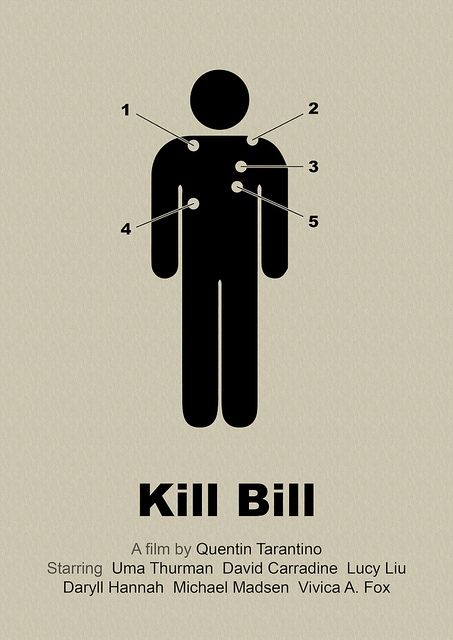 Póster alternativo de 'Kill Bill'. Fuente: www.pinterest.com