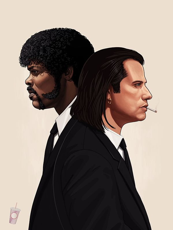 Ilustración de 'Pulp Fiction'. Fuente: www.pinterest.com