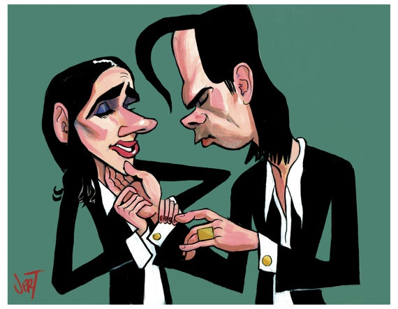 Nick Cave y PJ Harvey